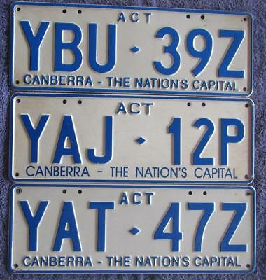Act X 3 License/number Plates