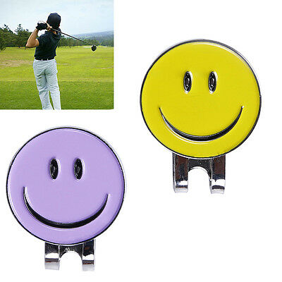 Smile Face Magnetic Hat Clip Golf Ball Marker Clip On Golf Cap New.