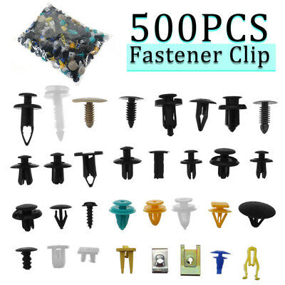 500Pcs Plastica Misto Auto Car Trim Fastener Clip Paraurti Door Pannello Rivetto