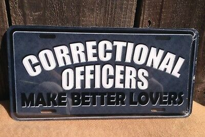 CORRECTIONS OFFICER DIAMOND PLATE LOOK METAL NOVELTY LICENSE PLATE TAG