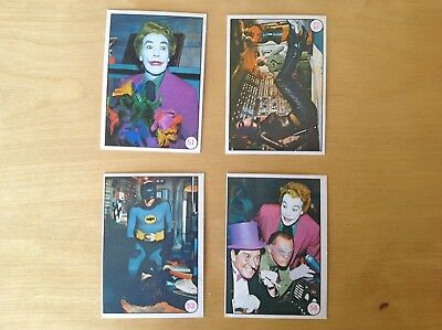 1967 Scanlens BAT LAFFS Batman TV cards X4 Australian 51 52 53 54