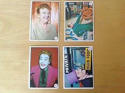 1967 Scanlens BAT LAFFS Batman TV cards X4 Australian 37 40 41 42