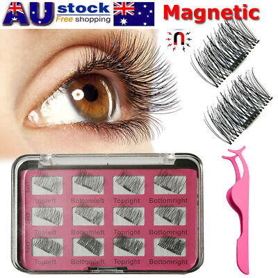 3 Second 3D Magnetic False Eyelashes Natural Eye Lashes Extension 12Pcs/6Pairs