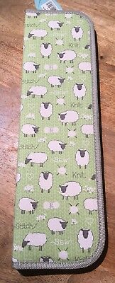 KNITTING PIN ZIP CASE Hard backed 'SHEEP' DESIGN Matching items available