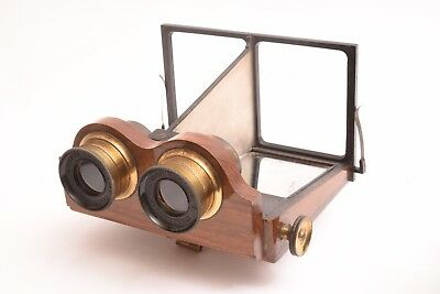 Stereoviewer Smith Beck & Beck for glass and card stereo view format 8,5x17 cm