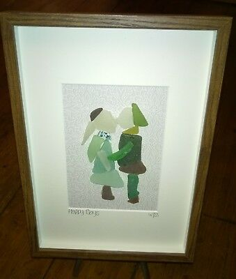 Framed Irish Sea Glass art gift ~ Engagement Anniversary Wedding Ireland gift
