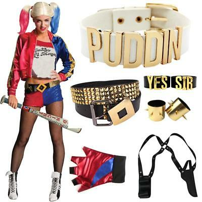 Halloweens Harley Quinn Ladies Costume Fancy Halloween Suicide Squad Accessories
