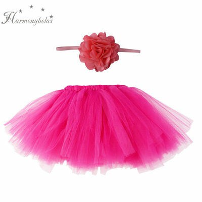 Infant Baby Soft Skirt Peacock Chiffon Costume Headband Photography Props Outfit