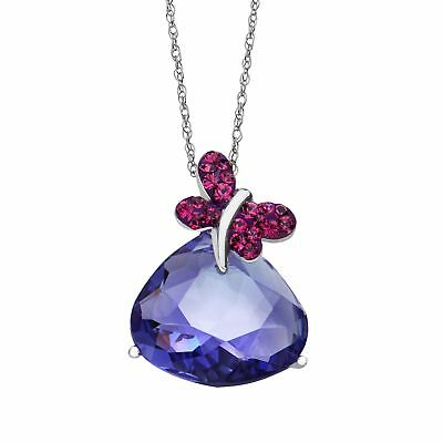 Crystaluxe Butterfly Pendant with Swarovski Crystals in Sterling Silver