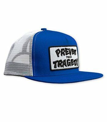 Gorra Prevent this tragedy de color azul y blanco de la marca THRASHER