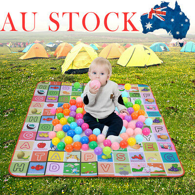 2mx1.8m XXL Baby Kids Floor Play Mat Waterproof Rug Picnic Cushion Crawling Mat