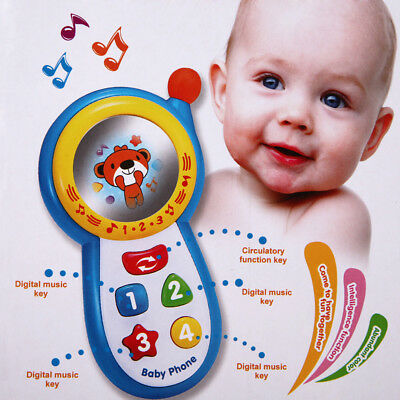 Baby Musical Phone Toys Kids Learning Study Musical Sound Cell Phone Education