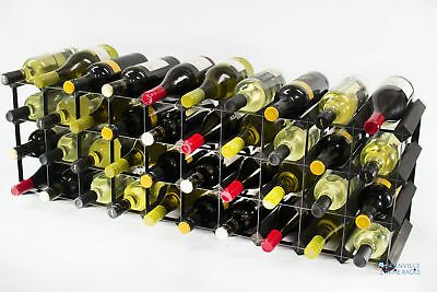 30/40 bottle cupboard top black stained wood and metal wine rack ready to use