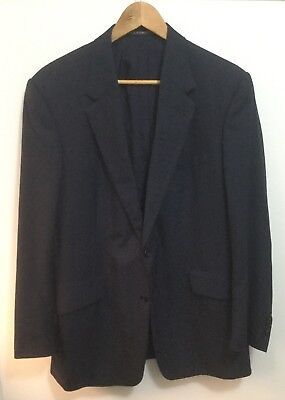 Kilgour Savile Row Navy Blue Check Notch Lapel Jacket Blazer Coat 40R
