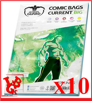 Pochettes Protection CURRENT BIG Size comics VO x 10 Marvel Bags # NEUF #