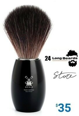HJM Muhle Shaving Brush Pure Badger Black HIGH QUALITY Made in Germany