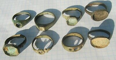 Group Of Ancient  bronze rings. (no stone)
