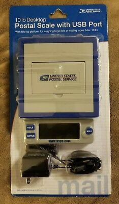 US Postal Service Electronic 10 lb Desktop Scale With USB Port NIB & On SALE!
