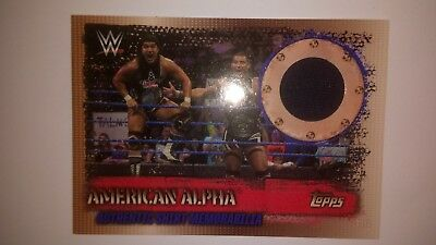 Topps wwe slam attax 10th edition - American alpha t-shirt memorabilia.