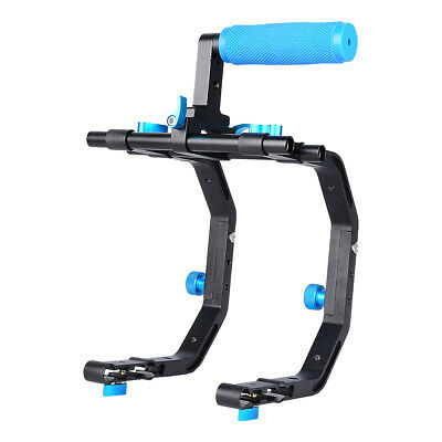 Dual C-Shape Bracket Top Handle Support System for 15mm  Video DSLR Camco Gift