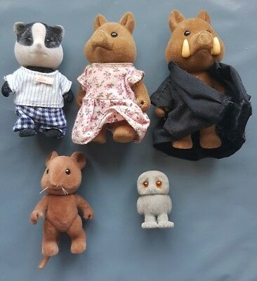 Sylvanian Families - Possibly Vintage - Animal Selection - Owl, Pig, Mouse etc