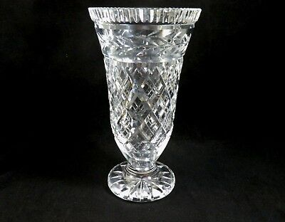Vintage Waterford Crystal Glass Footed Vase 7 Tall W Old Mark
