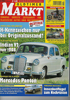 Oldtimer Markt 2 03 Yamaha RD 250 BMW 700 Indian V2 Mercedes Ponton Citroen GS