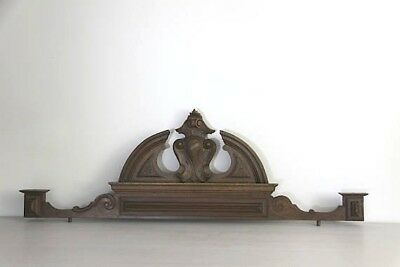 Antique French Wooden Pediment, Carved Wooden Fronton, 43""