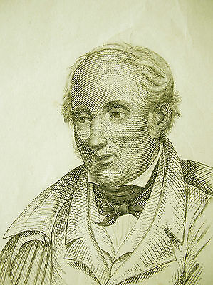 Wordsworth, William 1840 Stahlstich -  english Poet Romantic age steel engraving
