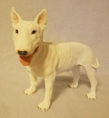 English Bull Terrier LARGE Figurine White