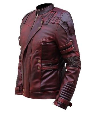 Guardians of The Galaxy's Star Lord Chris Pratt style Leather Jacket / UK Seller