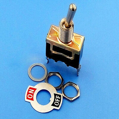 Heavy Duty ON/OFF Small SPST Toggle Switch Miniature+Waterproof Cover 12V