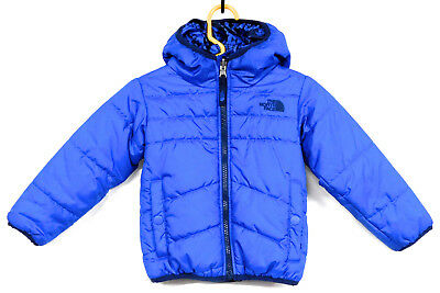 THE NORTH FACE Toddler Boys 2T Blue Hooded Reversible Puffer Jacket