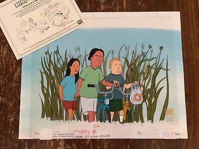 King of the Hill Production Cel- Bobby Hill, Connie + Joseph, 1997