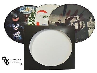 """12"""" LP Replacement  Picture Disc Cardboard Record Sleeves With Poly Inner Option"""