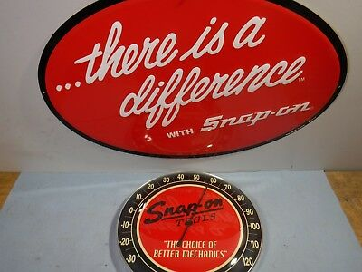"""NEW Snap-on 12"""" Collectible Fahrenheit Wall Thermometer Vintage Logo metal/glass"""