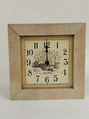 Vintage Currier & Ives Seth Thomas Wall Clock ~ NIB