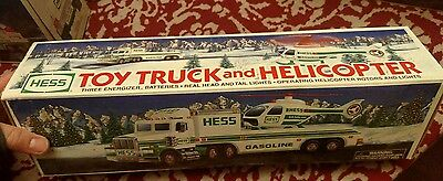 Hess 1995 Toy Truck And Helicopter