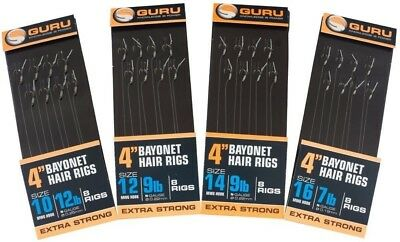 Guru Mwg Bayonet Method Hair Rigs Feeder Hair Rigs All Sizes Coarse Fishing