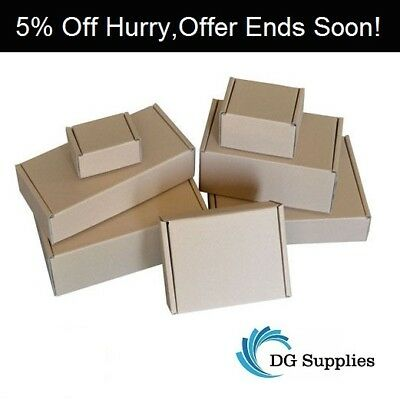 "Brown Die Cut Folding Lid Postal Cardboard Boxes Mailing Cartons 12"" x 6"" x 2.5"""