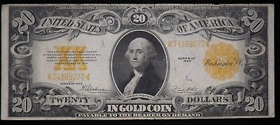 1922 $20 Dollar Gold Certificate  Circulated