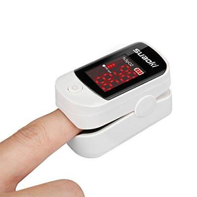 Suaoki Finger Pulse Oximeter w/ LED Screen Portable Blood Oxygen Meter, All Ages