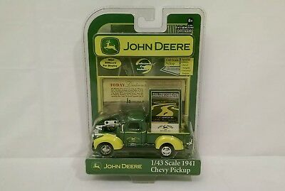 John Deere Parts/Service 1941 Chevy Pickup 1/43 Scale Collector Card Included