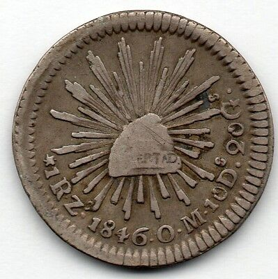 Mexico 1 Real 1846 ZsOM (90.3% Silver) Coin