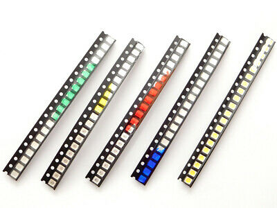 100 pcs LED SMD 1210 water clear, 20 pcs each Red Green Blue Yellow White  #1771
