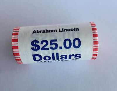2010 D Abraham Lincoln Presidential Dollar 25 Coin Roll Unopened Uncirculated