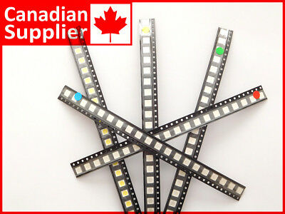 100 pcs Power-LED SMD 5050 clear, 20 pcs each Red Green Blue Yellow White  #1924