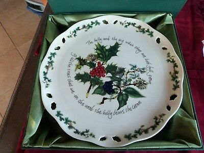 Portmeirion Holly and Ivy Pierced Footed Cake Stand in original box