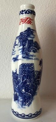 Coca-Cola Coke blue and white porcelain Bottle For Collection and Home Decor