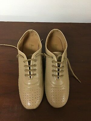 Very Fine Ladies Perforated Lace Up Practice Dance Shoes-8 1/2